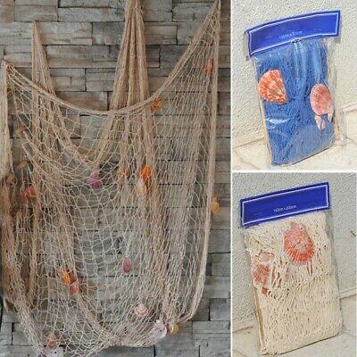 USA Nautical Fishing Net Seaside Wall Beach Party Sea Shells Home Garden Decor *