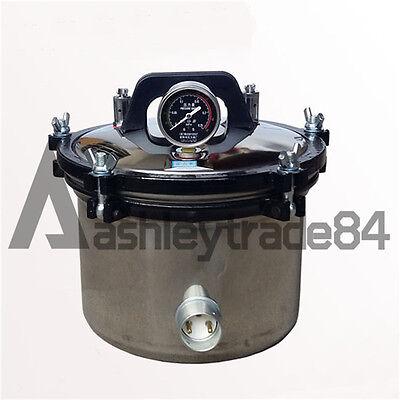 New Portable 8l Electric Autoclavehigh Pressure Sterilizer Autoclave 220v 1kw