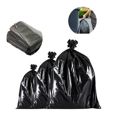 400 x Bin Bags Black Refuse Sacks Garbage Waste Bin Liners 18 x 29 x 39 Inch