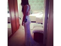 Prom dress Pia Michi size 8/10 immaculate condition worn once ivory/ mother of pearl sequins