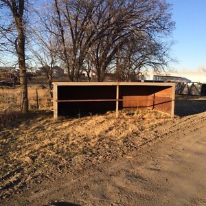 Steel calf shelters