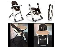 Mamas & Papas Siesta brown leather highchair
