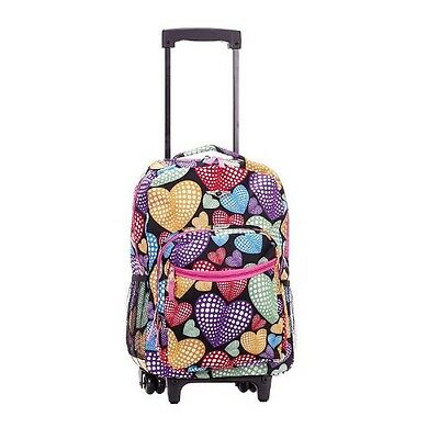 Cute Wheeled Backpack For Kid Rolling Book Bag Girl Travel