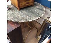 Garden table cast iron base