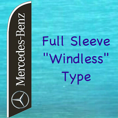 Mercedes Benz Windless Feather Flag Swooper Flutter Banner Tall Advertising Sign