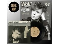 "Rolling Stone Magazine featuring David Bowie Heroes 7"" Single lp record music"