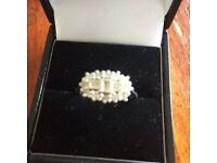 0.50 ct diamond ring in white 18 ct gold . Full uk hallmarks