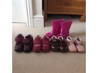 Girls shoe bundle sizes 5 & 6