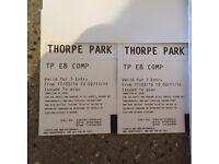 2x Thorpe park tickets-valid until 2/11