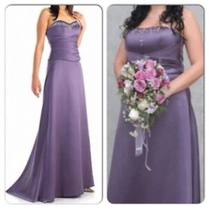 Sz 12 14 Bridesmaid Prom Graduation Cocktail Wedding Dress Gown
