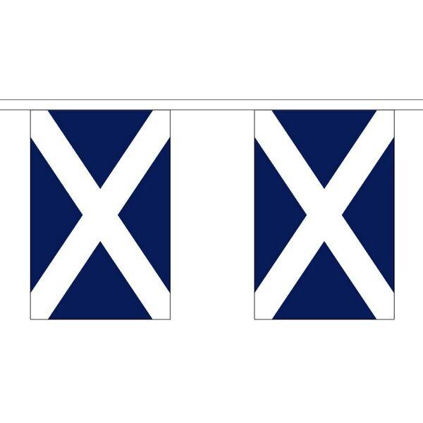 Scotland St Andrews Dark Navy Blue Giant Huge Large Flag Bunting - 18m 30 Flags