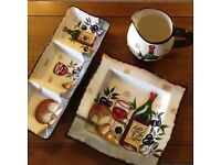 Plate jug and dipp plate