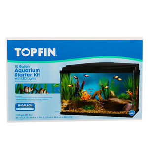 Top Fin 10 Gallon Aquarium Starter Kit with LED Lights
