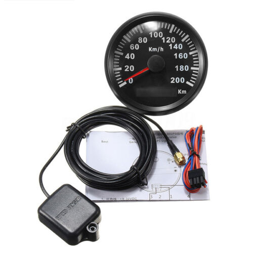 85mm 200KM/H Car Motor Stainless GPS Speedometer Waterproof Digital Gauge Stable