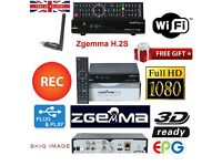 ZGEMMA STAR h.2s LATEST WITH 36 MONTHS GIFT AND FREE USB WIFI ANTENNA - PLUG AND PLAY!! LONDON