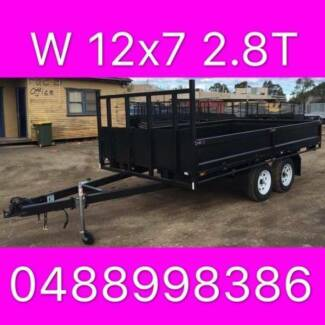 12x7 table top tandem trailer flattop local made trailer 2800kg 2