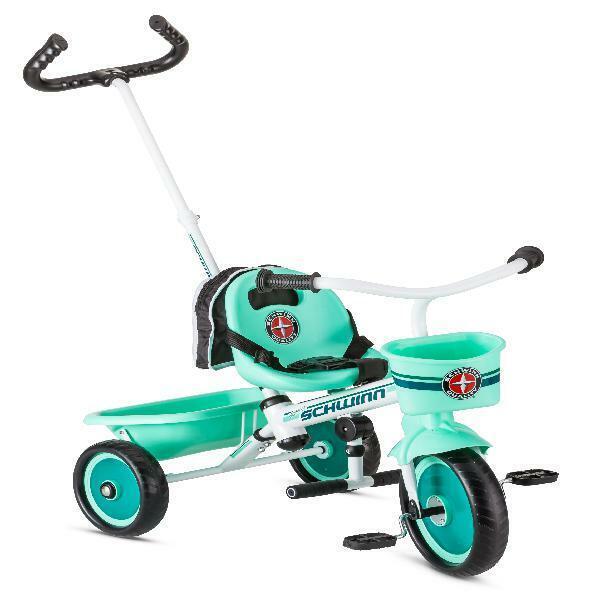 Schwinn Easy-Steer Toddler Beginner Tricycle with Push or St