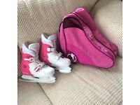 Girls SFR Ice Skates - UK size 13 - 3 plus Bag