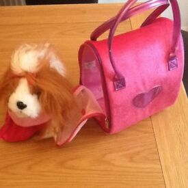 Puppy and bag