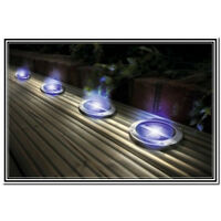 Solar powered Deck Ground LED Light