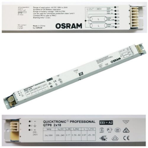 osram quicktronic qtp8 twin 2 x 18w t8 light tube. Black Bedroom Furniture Sets. Home Design Ideas