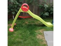 Kids garden slide with water facility