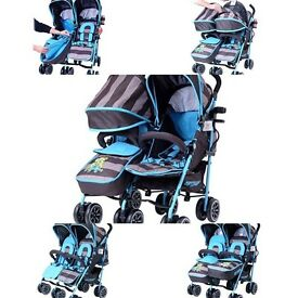 Double buggy used twice immaculate condition.