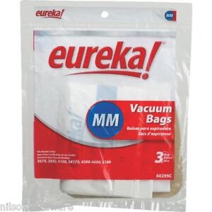 eureka replacement type mm vacuum cleaner bags 60295b 6 6pk