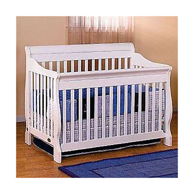 Lil Angels 3-in-1 Naples Convertible Baby Wood Crib - White