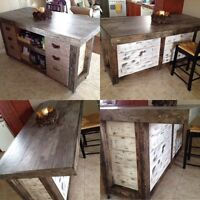 Custom rustic furnitures and accessoires available