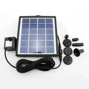 Solar power fountain flow filter oxygen pond pool water for Solar water filter for ponds