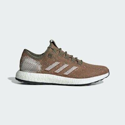 Brand New!! Adidas Pure Boost B37786 Men's 8 - Raw Khaki/Orange Running Shoe