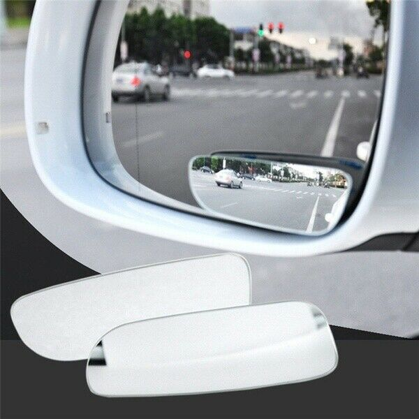 Car Parts - 2 Car Blind Spot Mirror Convex Wide Angle Adjustable 360 Rotation Rear Side View