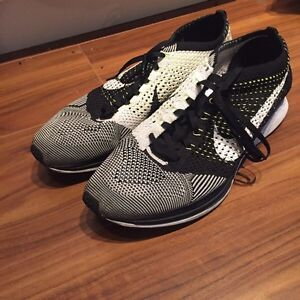 Nike Flyknit Racer Black/White/Volt ,SIZE 12.5,great condition