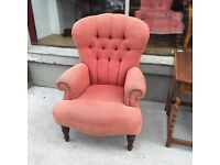 Large pink armchair , feel free to view