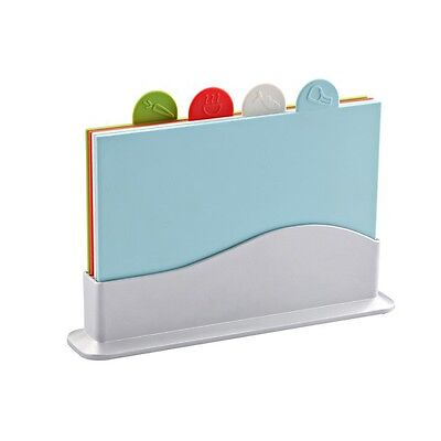 Colour Coded Chopping Board Set of 4 Cutting Kitchen Non Slip Food Preparation Colour Coded Chopping Board