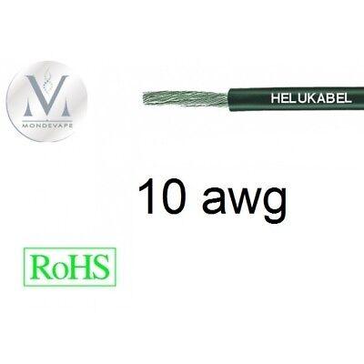 Cable 10AWG 5.25mm² Noir (marron) - 1 mètre