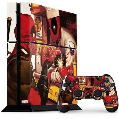 Marvel Deadpool Chimichangas PS4 Bundle Skin By Skinit NEW