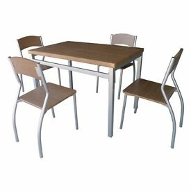 Brand New Wooden Dining Set with 4 Chairs
