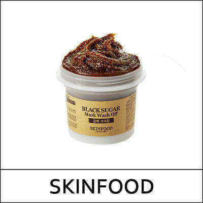 [Skin Food] SkinFood Black Sugar Mask Wash Off Power Scrub 100g / Korea / (1UL2)