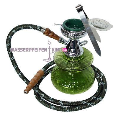ShiSha MYA Micro - 24 cm - Edle Wasserpfeife - olive grün 1-Schlauch Hookah