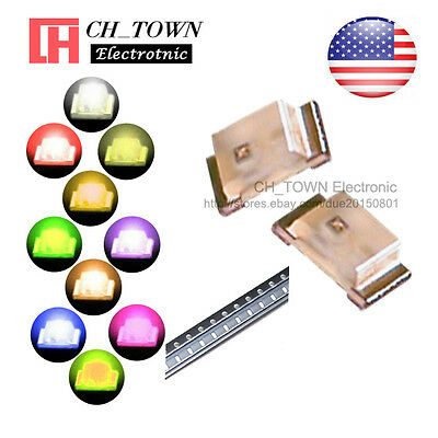 10 Lights 200pcs 0603 1608 Smd Smt Led Diodes White Red Yellow Purple Mix Kits