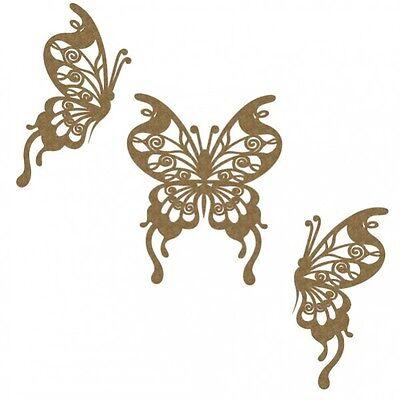 Creative Embellishments Chipboard - Flourish Butterfly Set 2
