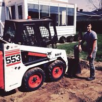 Asphalt and concrete removal. Excavate and back fill