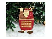Hanging Plush Santa Advent Calendar