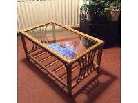 Conservatory glass top table