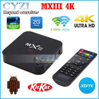 GENUINE MXIII ANDROID TV BOX★ULTRA HD 4K 1080P★QUAD CORE★LOADED