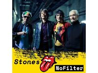 the ROLLING STONES - MAY 25TH - STANDING PAPER TICKETS X2 - AVAILABLE TO EMAIL