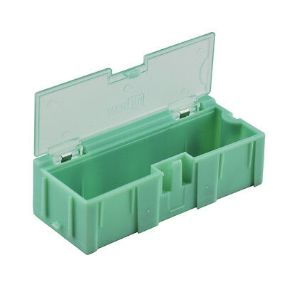 10pcs Smt Smd Kit Anti-static Laboratory Components Storage Boxes Green 76x32.2