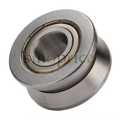 V Groove Steel Sealed Ball Bearing Roller Guide Cylindrical Guide 15x38x17mm